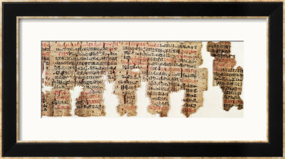 London Medical Papyrus, New Kingdom, Circa 1325 Bc by 18Th Dynasty Egyptian Pricing Limited Edition Print image