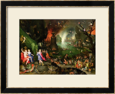 Orpheus With A Harp Playing To Pluto And Persephone In The Underworld by Jan Brueghel The Elder Pricing Limited Edition Print image