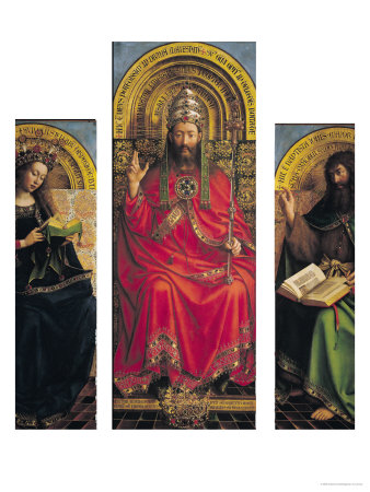 God The Father, Central Panel Of The Ghent Altarpiece, 1432 by Hubert Eyck Pricing Limited Edition Print image