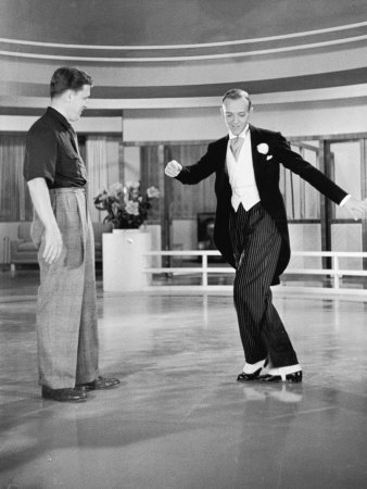 Dancer Fred Astaire Practicing His Moves On Rko Set by Alfred Eisenstaedt Pricing Limited Edition Print image