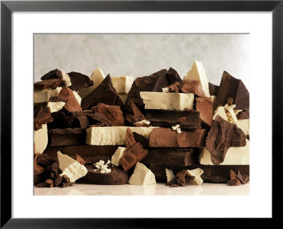 White, Dark And Milk Chocolate Pieces by Tom Eckerle Pricing Limited Edition Print image