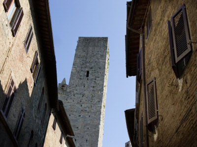 Streets In San Gimignano, Italy by Robert Eighmie Pricing Limited Edition Print image
