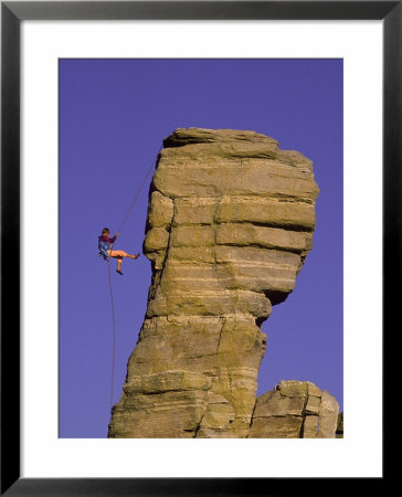 Rock Climbing, Hitchcock Pinnacle, Mt. Lemmon, Az by Greg Epperson Pricing Limited Edition Print image
