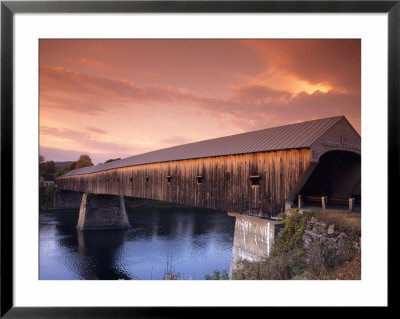 Longest Covered Bridge In The United States, Windsor, Vermont, Usa by David R. Frazier Pricing Limited Edition Print image