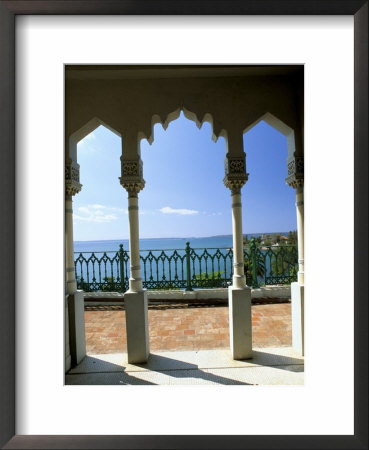 View To Sea Through Moorish Arches At Palacio De Valle, Cienfuegos, Cuba, West Indies by Lee Frost Pricing Limited Edition Print image