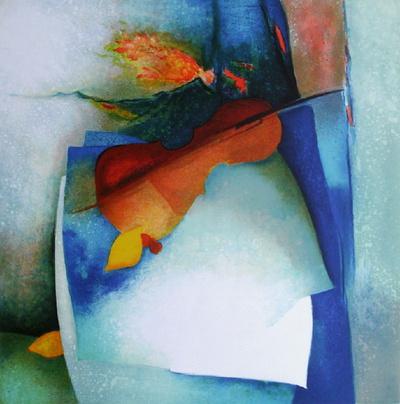 S - Nature Morte Au Violon Ii by Claude Gaveau Pricing Limited Edition Print image