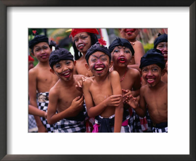Young Boys From The Ubud Area Have Faces Painted For A School Competition, Ubud, Indonesia by Adams Gregory Pricing Limited Edition Print image