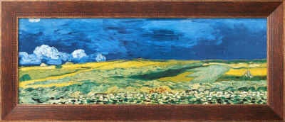 Wheatfield Under A Cloudy Sky, C.1890 by Vincent Van Gogh Pricing Limited Edition Print image
