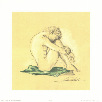 Male Nude by Alfred Gockel Pricing Limited Edition Print image