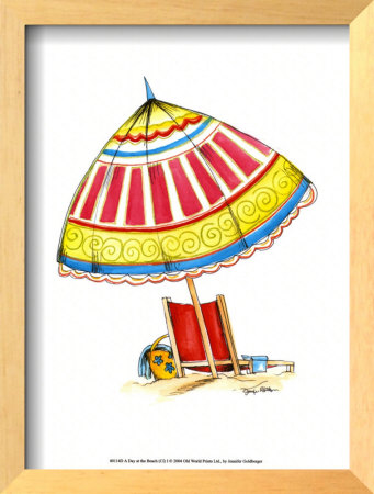 A Day At The Beach (Ci) I by Jennifer Goldberger Pricing Limited Edition Print image