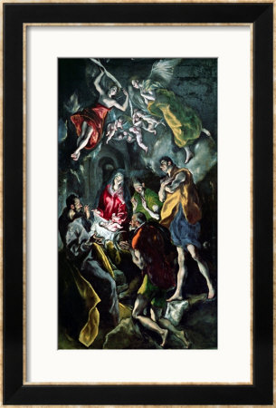 The Adoration Of The Shepherds, From The Santo Domingo El Antiguo Altarpiece, Circa 1603-14 by El Greco Pricing Limited Edition Print image