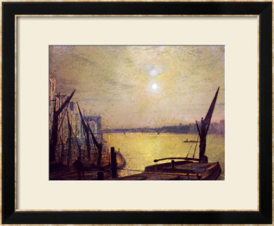 Southwark Bridge From Blackfriars By Night, 1881 by John Atkinson Grimshaw Pricing Limited Edition Print image