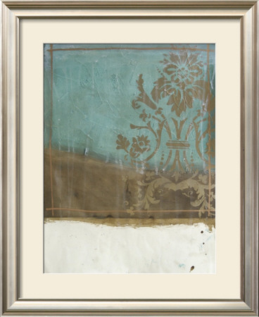 Teal And Bronze Abstract I by Jennifer Goldberger Pricing Limited Edition Print image