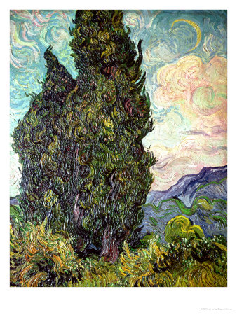 Cypresses, C.1889 by Vincent Van Gogh Pricing Limited Edition Print image