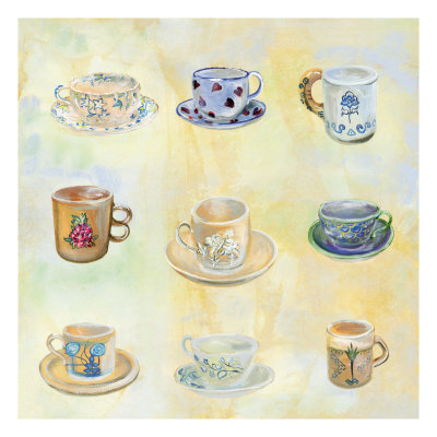 Tea Cup Collection by Elizabeth Garrett Pricing Limited Edition Print image