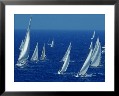 Sailing Off The Island Of Antigua In The Caribbean by Kenneth Garrett Pricing Limited Edition Print image