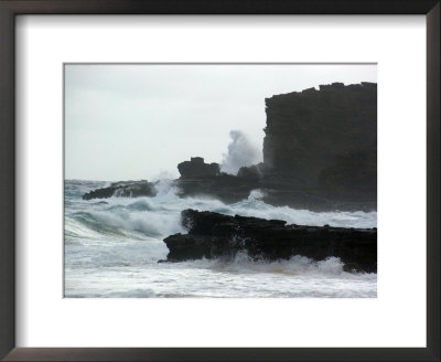 Waves Crash Onto Cliff Edges On Oahu Island, Hawaii by Stacy Gold Pricing Limited Edition Print image