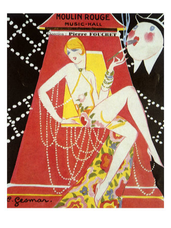 Moulin Rouge Music-Hall, C.1926 by E. Gesmar Pricing Limited Edition Print image