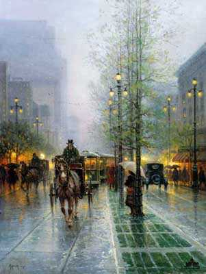 Carriages Canal Street by G Harvey Pricing Limited Edition Print image