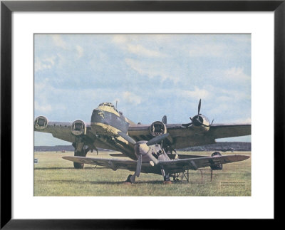 Messerschmitt 109 Poses Before The British Short Stirling Bomber It Brought Down by Hubmann Pricing Limited Edition Print image