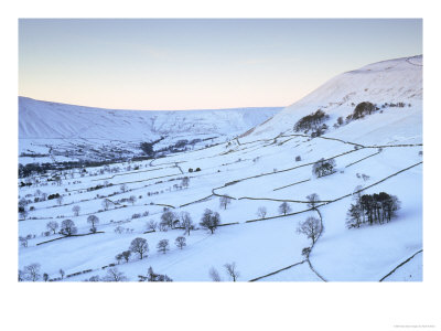 Vale Of Edale On Winter Dawn, Grindslow Knoll & Rushup Edge, Peak District Np, U.K by Mark Hamblin Pricing Limited Edition Print image
