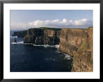 Cliffs Of Moher, Rising To 230 M In Height, O'brians Tower And Breanan Mor Seastack, County Clare by Gavin Hellier Pricing Limited Edition Print image