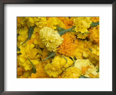 Yellow Carnations For Sale For Temple Offerings In Little India, Singapore, South East Asia by Amanda Hall Pricing Limited Edition Print image