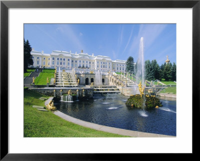Summer Palace At Petrodvorets, St. Petersburg, Russia by Gavin Hellier Pricing Limited Edition Print image