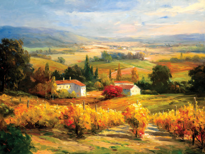 Hazy Tuscan Farm by S. Hinus Pricing Limited Edition Print image
