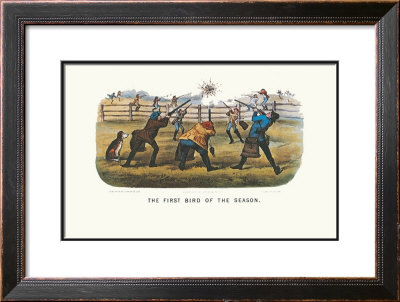 First Bird Of The Season by Currier & Ives Pricing Limited Edition Print image