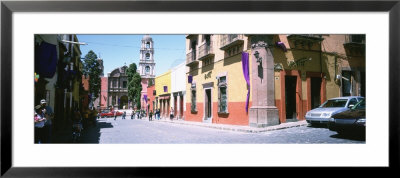 Buildings Along A Street In San Miguel De Allende, Guanajuato, Mexico by Panoramic Images Pricing Limited Edition Print image