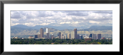 Clouds Over Skyline And Mountains, Denver, Colorado, Usa by Panoramic Images Pricing Limited Edition Print image