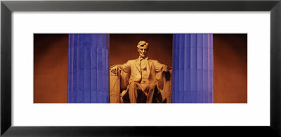 Statue Of Abraham Lincoln In A Memorial, Lincoln Memorial, Washington Dc, Usa by Panoramic Images Pricing Limited Edition Print image