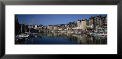 Boats Docked At A Harbor, Honfleur, Normandy, France by Panoramic Images Pricing Limited Edition Print image