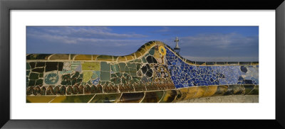 Wall In Parc Guell, Barcelona, Catalonia, Spain by Panoramic Images Pricing Limited Edition Print image