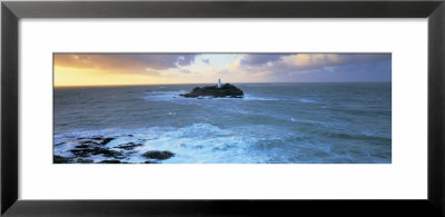 Lighthouse On An Island, Godvery Lighthouse, Hayle, Cornwall, England by Panoramic Images Pricing Limited Edition Print image