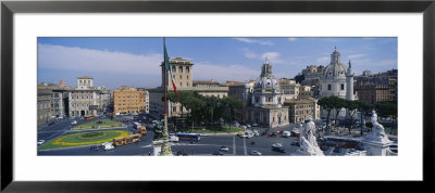Traffic On A Road, Piazza Venezia, Rome, Italy by Panoramic Images Pricing Limited Edition Print image