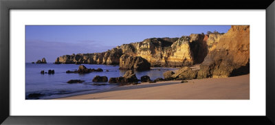 Beach And Coastline, Algarve Region, Lagos, Portugal by Panoramic Images Pricing Limited Edition Print image