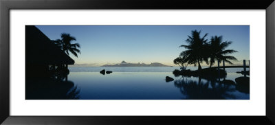 Silhouette Of A Tourist Resort, Tahiti Beachcomber Resort, Papeete, Tahiti, French Polynesia by Panoramic Images Pricing Limited Edition Print image