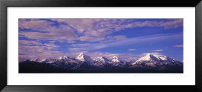 Snow Covered Peaks, Mt. Mather And Mt. Brooks, Denali National Park, Alaska, Usa by Panoramic Images Pricing Limited Edition Print image
