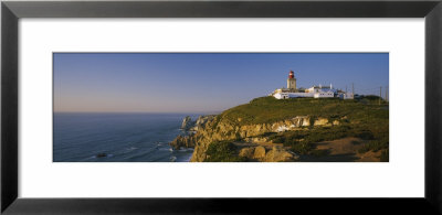 Lighthouse At The Coast, Cabo Da Roca, Lisbon, Portugal by Panoramic Images Pricing Limited Edition Print image