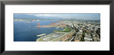 Harbor And Buildings In A City, Vancouver, British Columbia, Canada by Panoramic Images Pricing Limited Edition Print image