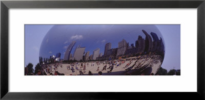 Tourists Standing In The Park, Sbc Plaza, Millennium Park, Chicago, Illinois, Usa by Panoramic Images Pricing Limited Edition Print image