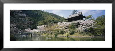 Pond In Front Of A Building, Iwakuni, Japan by Panoramic Images Pricing Limited Edition Print image