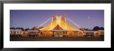 Circus Lit Up At Dusk, Circus Narodni Tent, Prague, Czech Republic by Panoramic Images Pricing Limited Edition Print image