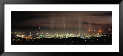 Oil Refinery At Lit Up At Night, La Linea De La Concepcion, Andalusia, Spain by Panoramic Images Pricing Limited Edition Print image