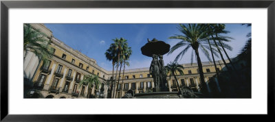 Fountain In Front Of A Palace, Placa Reial, Barcelona, Catalonia, Spain by Panoramic Images Pricing Limited Edition Print image