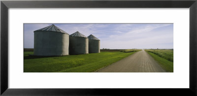 Three Silos In A Field by Panoramic Images Pricing Limited Edition Print image