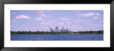 Skyscrapers, Chain Of Lakes Park, Minneapolis, Minnesota, Usa by Panoramic Images Pricing Limited Edition Print image
