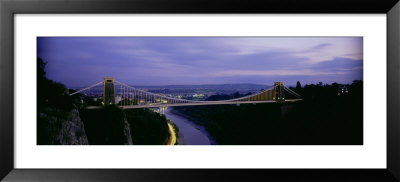 Bridge Over A River, Clifton Suspension Bridge, Bristol, England by Panoramic Images Pricing Limited Edition Print image